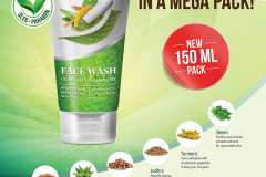 Face Wash 150 ml launch 01