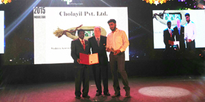 Cholayil wins Packaging Excellence India Star Award 2015