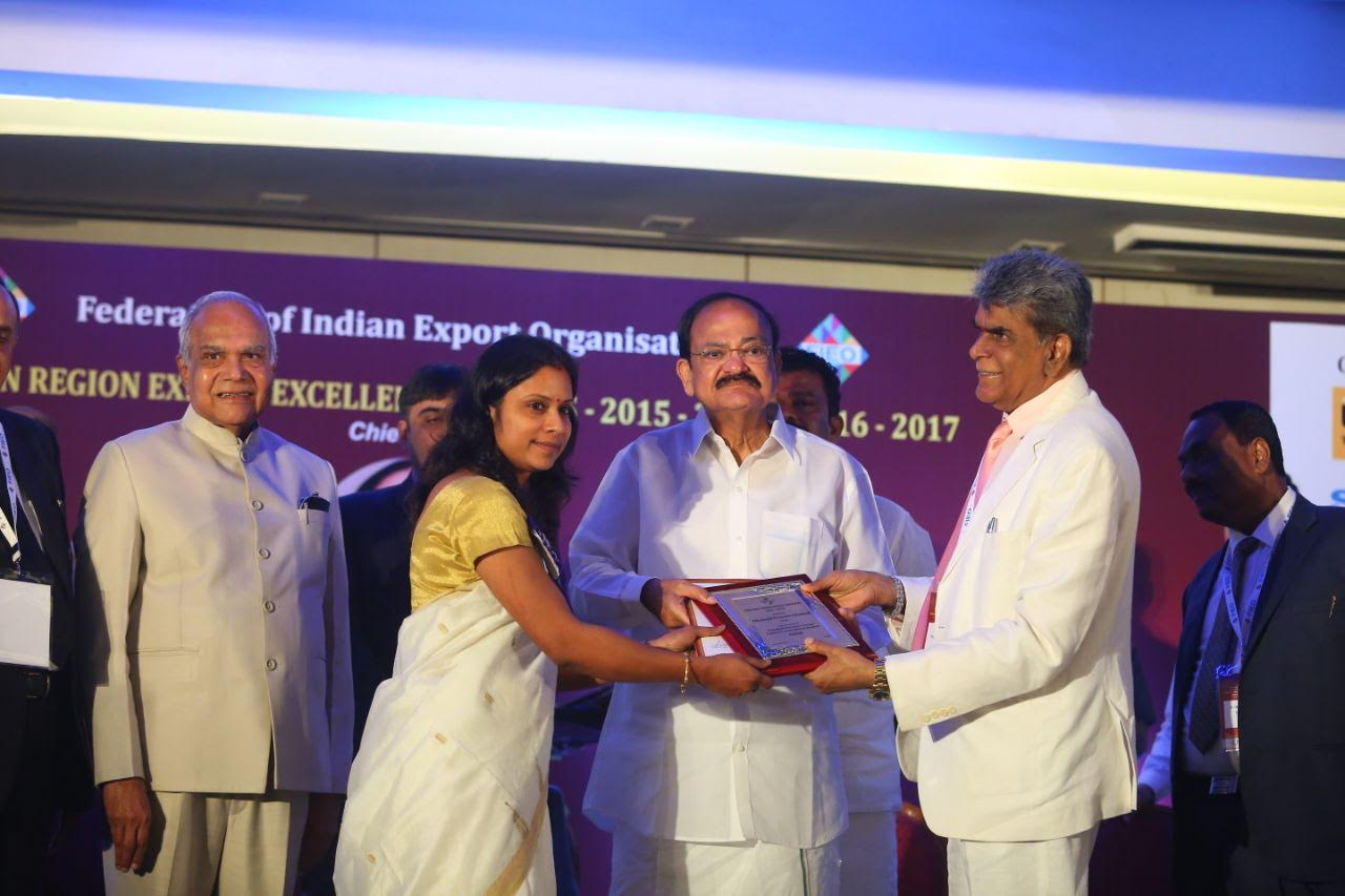 Cholayil wins Export Excellence award for 15-16
